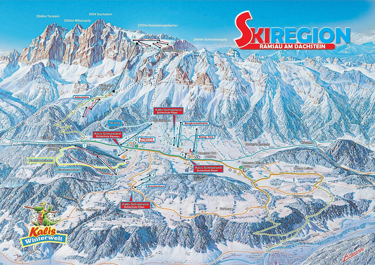 Dachstein Karte.Skiwetter Ramsau Dachstein Schneehöhen Und Schneelagen Auf Wetter
