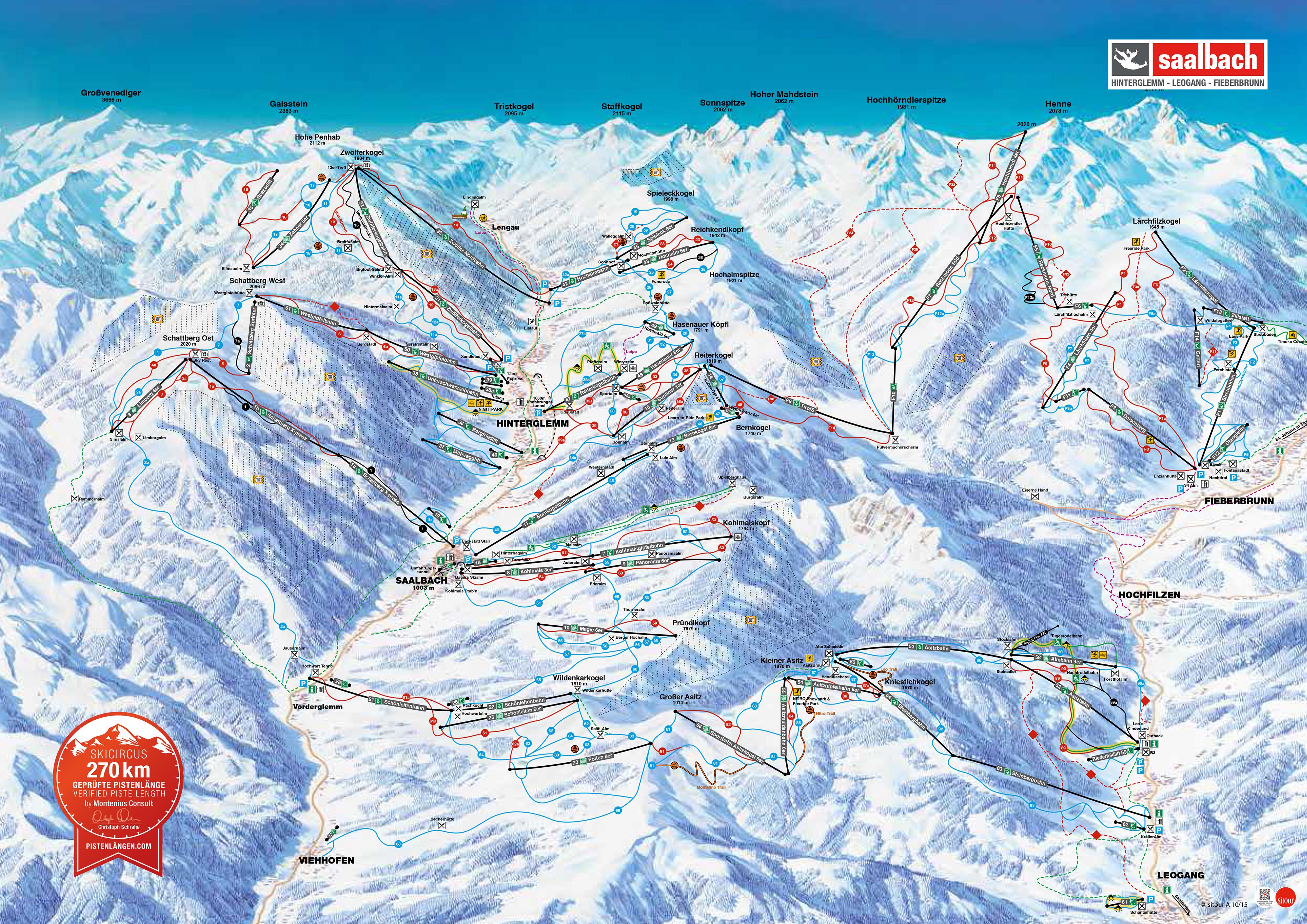 Skiwetter Saalbach